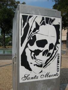 Santa Muerte Street Poster